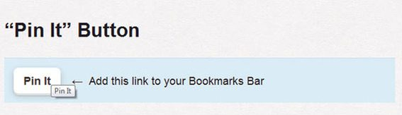 """Drag the """"Pin It"""" button to your bookmark bar."""
