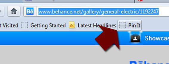 """The bookmark bar """"Pin It"""" button may be the easiest way to pin."""