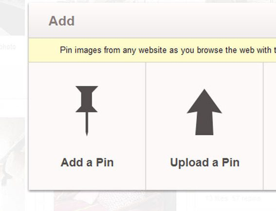 Pinterest will allow you to pin via a URL or a file upload.