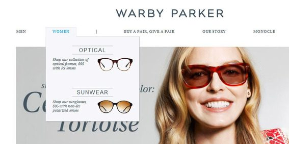 Graphics in navigation are becoming a trend on Magento sites.