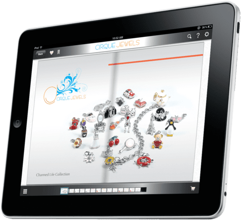 CirqueJewels.com's digital tablet-based catalog, also on Catalog Spree.