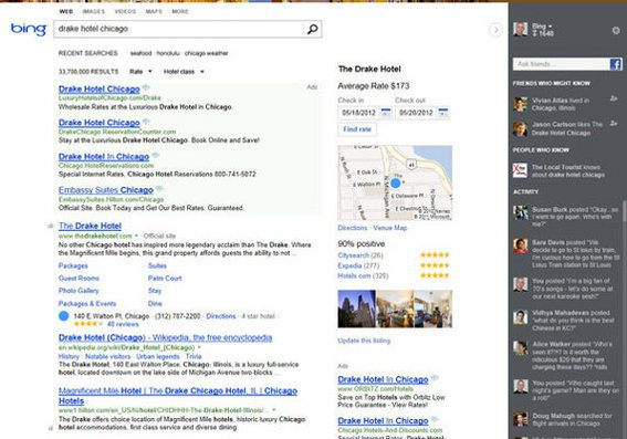 The new Bing will have three columns, according to Microsoft.