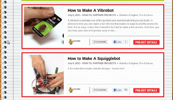 Radio Shack markets with how-to articles.
