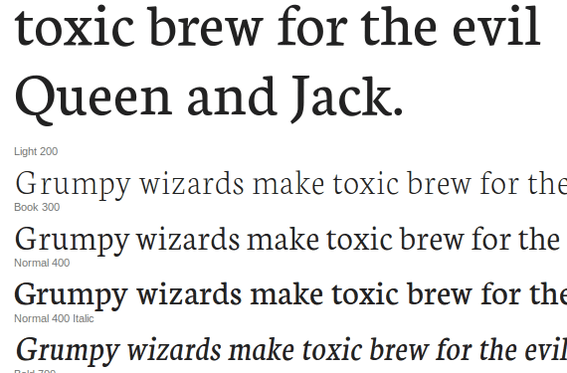 Neuton is from designer Brian Zick and is available from the Google Font Directory.