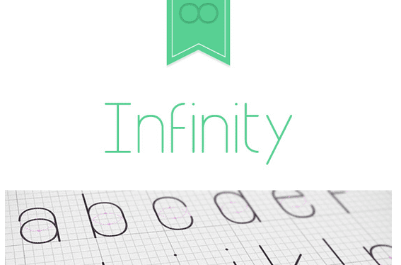 Infinity is from designer Tarin Yuangtrakul. It may be downloaded from Free Typography.