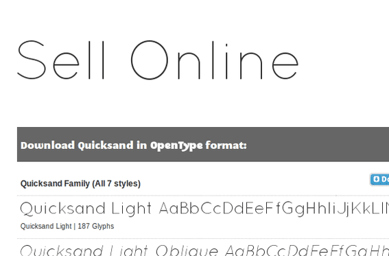 Quicksand is from Andrew Paglinawan Fonts.