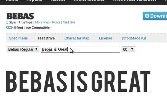 Bebas from Flat-it Fonts is available on Font Squirrel.