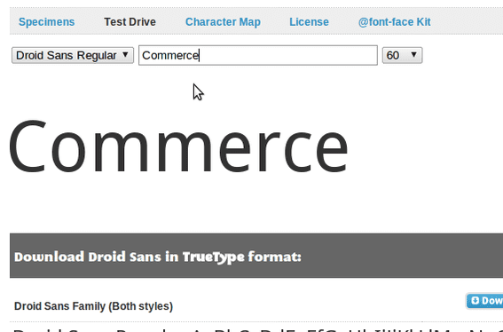 Designed for Android phones, Droid Sans is available from Font Squirrel.
