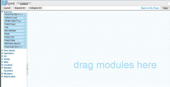 The visual editor looks something like a piece of virtual graph paper.