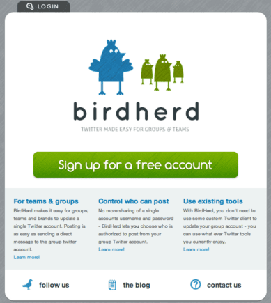 BirdHerd allows teams to publish to a single Twitter account.
