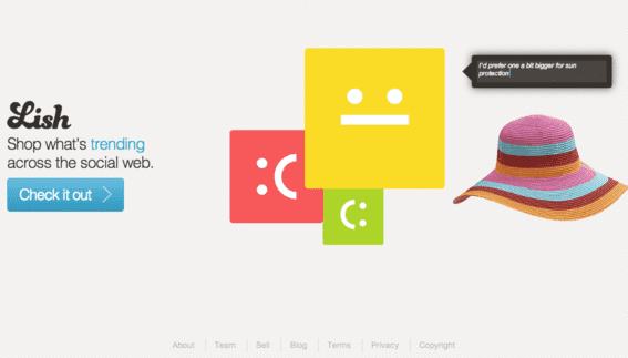 Lish is a social product discovery site created by Payvment.