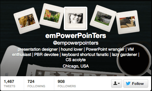 Empower Pointers blends the header and background images.