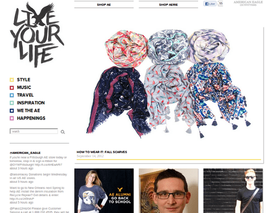 Like Your Life is American Eagle's lifestyle-focused blog.