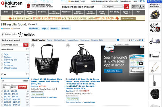 "Buy.com search results for ""shoulder bags leather."""
