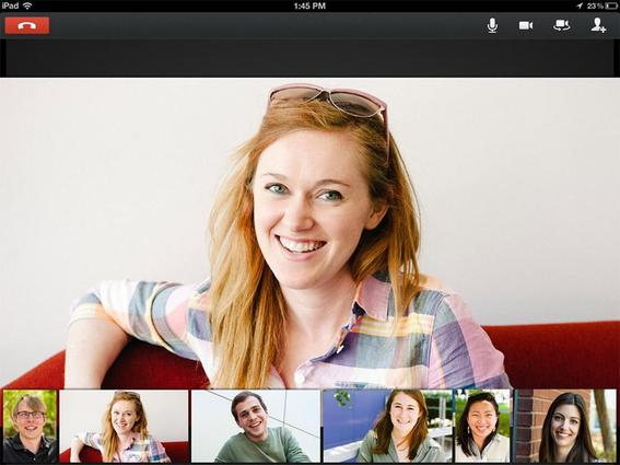 Hangouts enable face-to-face interaction with customers.