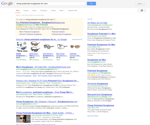 """Cheap polarized sunglasses for men"" search results."
