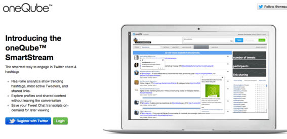 oneQube SmartStream is a free Twitter chat tool.