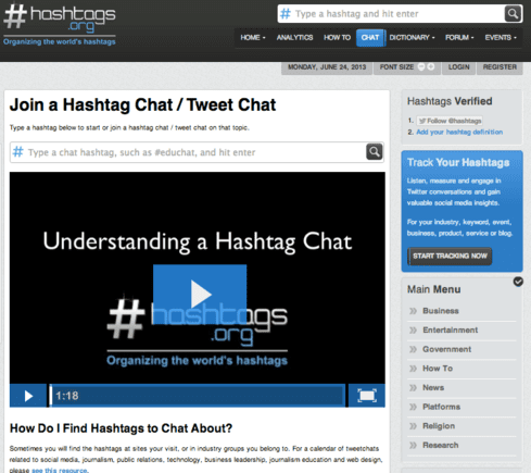 Hashtags.org was the original hashtag tracking directory.