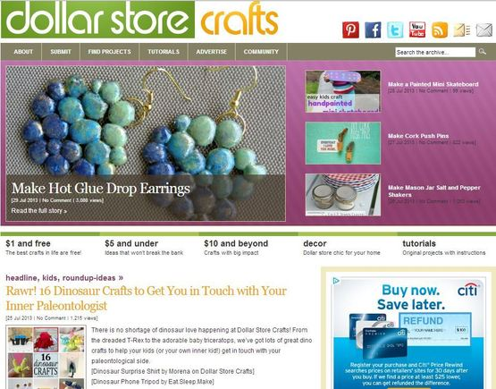 Dollar Store Crafts is an attractive potential affiliate because it posts frequently, is highly targeted, and has an engaged audience.