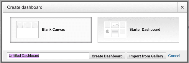 Creating new dashboards can be as easy or as complicated as you want it to be.