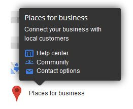 Contact information for Places for Business does not include phone support.