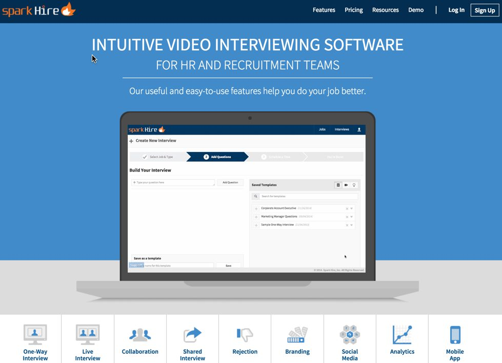 Video interviewing app for HR, recruiters, and employers.