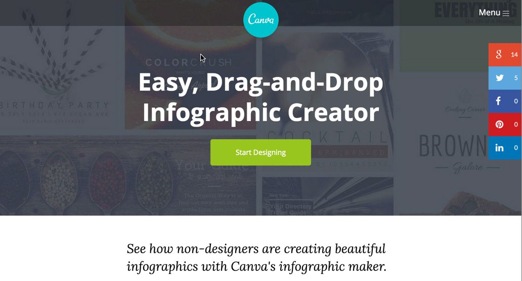 Canva: Infographic creation for non-designers.