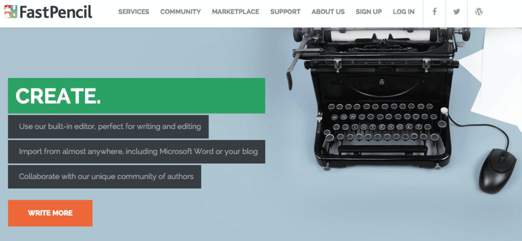 Web-based app to help authors write, publish, and sell print books and ebooks.