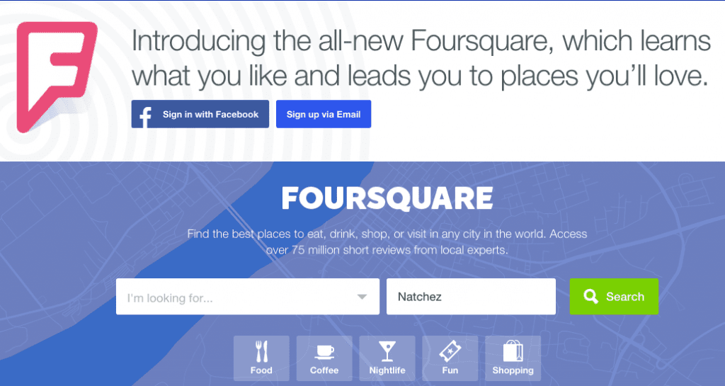 Foursquare is now a recommendation engine.