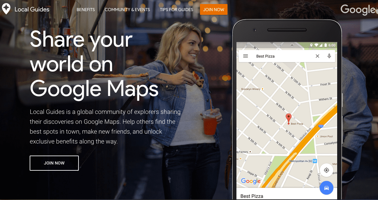 Become a Google Maps Local Guide.