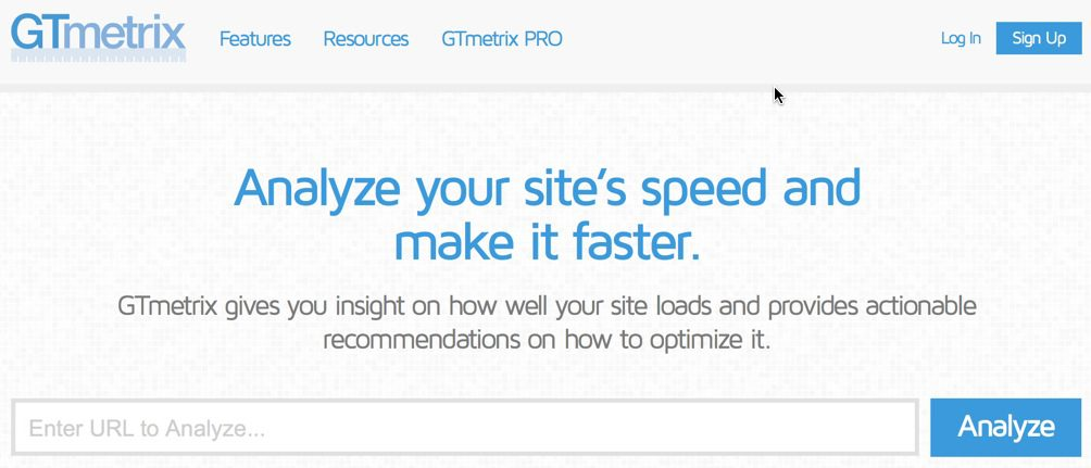 GTmetrix: Google PageSpeed and Yahoo YSlow page speed analysis.