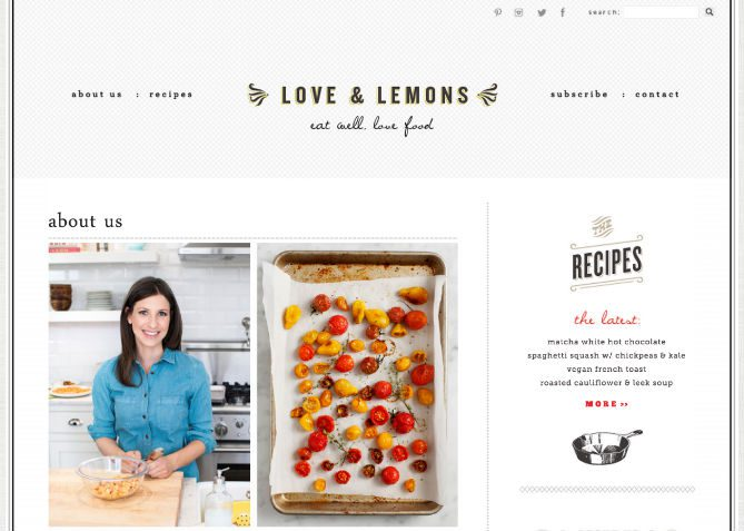 Food blog, Love & Lemons