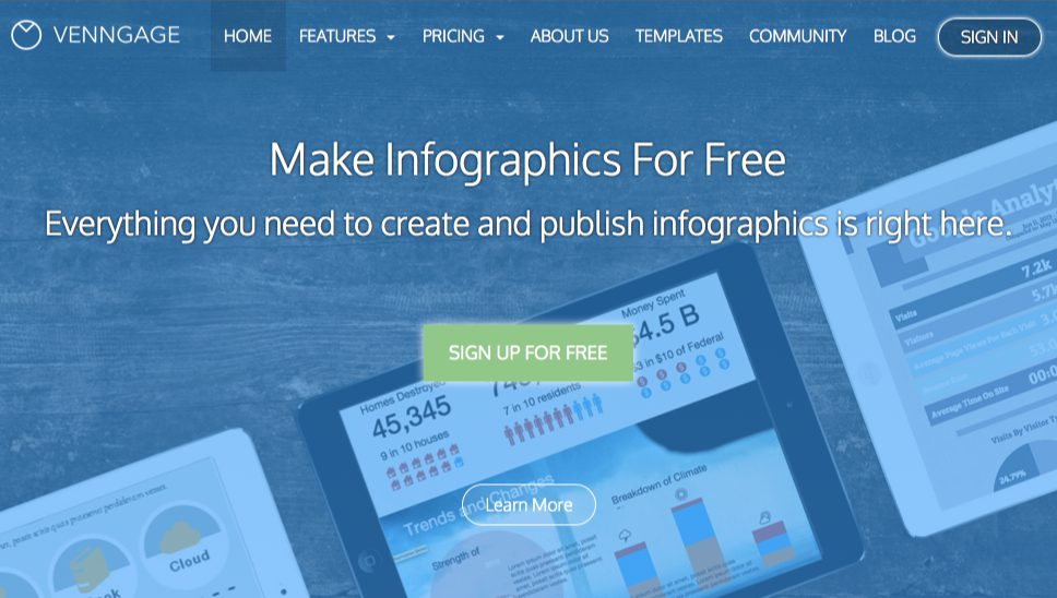 Venngage: 3 steps to an infographic.
